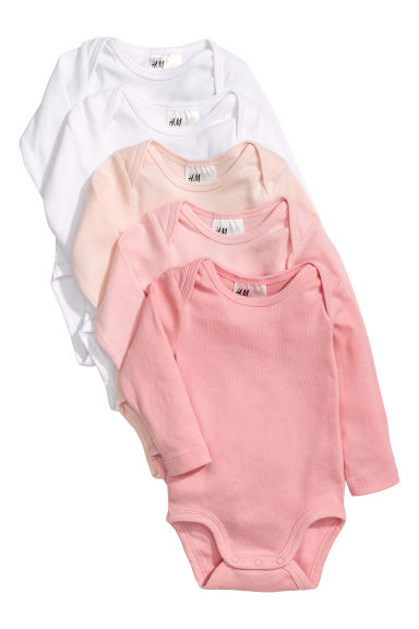 5-pack bodysuits - Pink/White -  | H&M