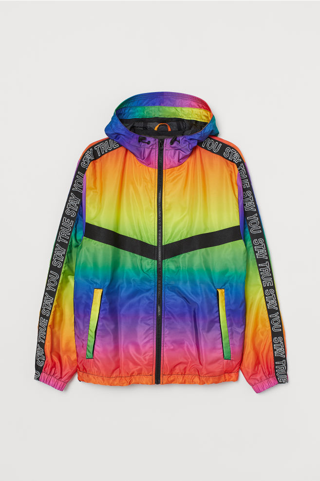 ed43cc0ba3 ... Windbreaker with a Sheen - Yellow/multicolored - | H&M ...