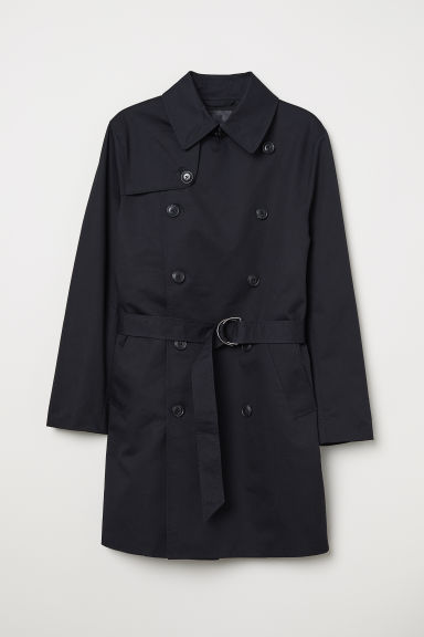Short trenchcoat - Dark blue -  | H&M