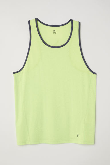 Sports vest top - Neon green - Men | H&M