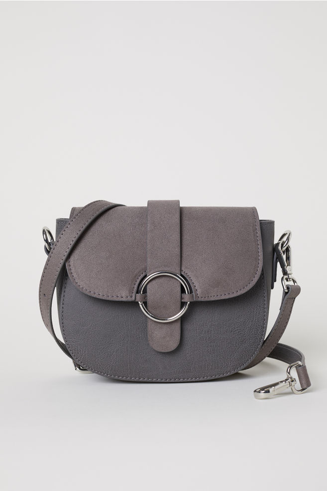 4b43db83c0 Small Shoulder Bag with Tassel - Gray - Ladies