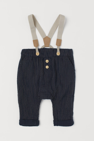 Cotton Pants with Suspenders