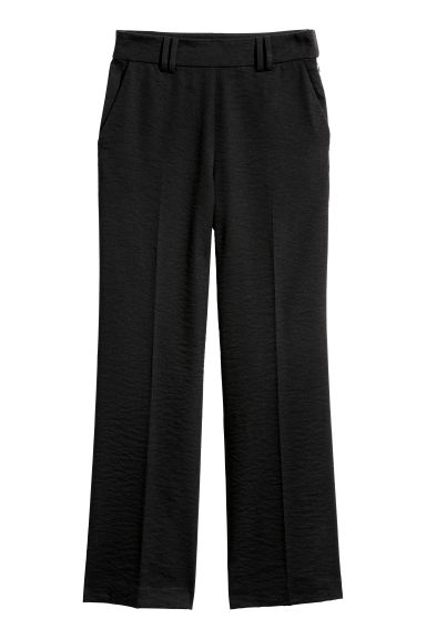 Wide suit trousers - Black - Ladies | H&M