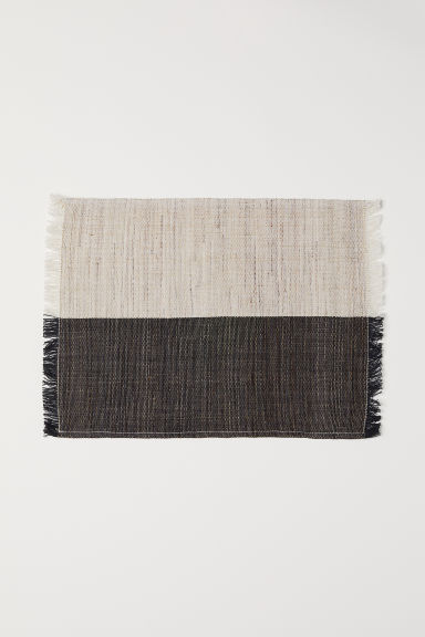Table mat - Anthracite grey/Natural white - Home All | H&M CN