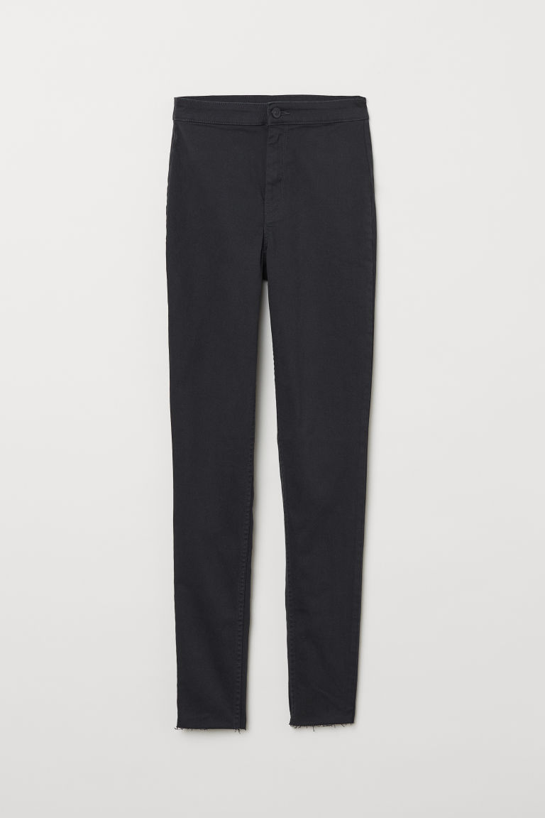 Twill trousers - Black/Dark grey -  | H&M CN