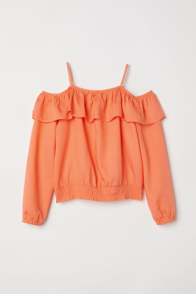 Cold-shoulderbloes - Oranje -  | H&M BE