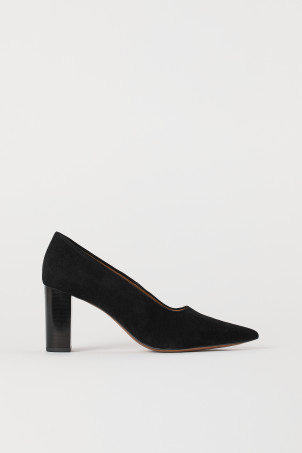 Block-heeled court shoesModal