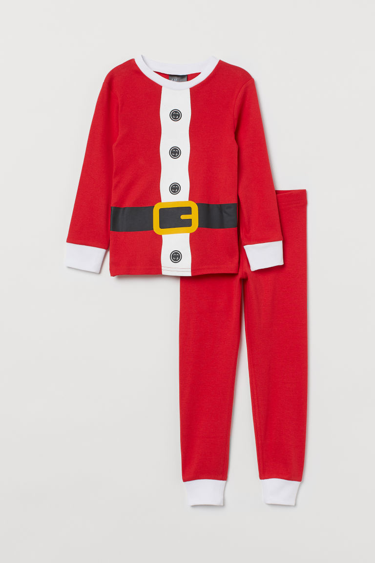 Jersey pyjamas - Red/Santa - Kids | H&M
