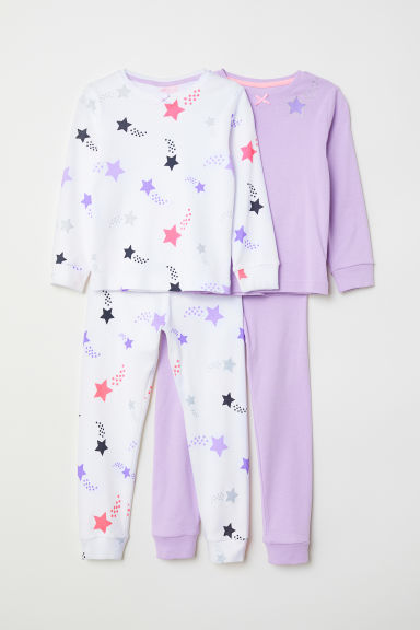 Pigiami in jersey, 2 pz - Viola/stelle -  | H&M IT