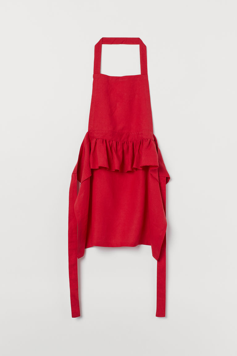 Linen Apron - Red - Home All | H&M US