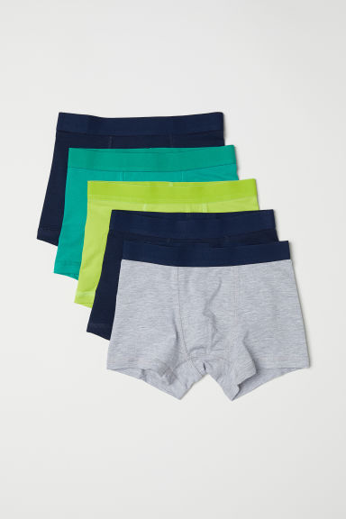 5-pack boxer shorts - Green - Kids | H&M CN
