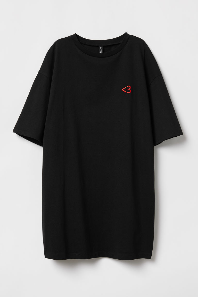 Abito a T-shirt - Nero -  | H&M IT