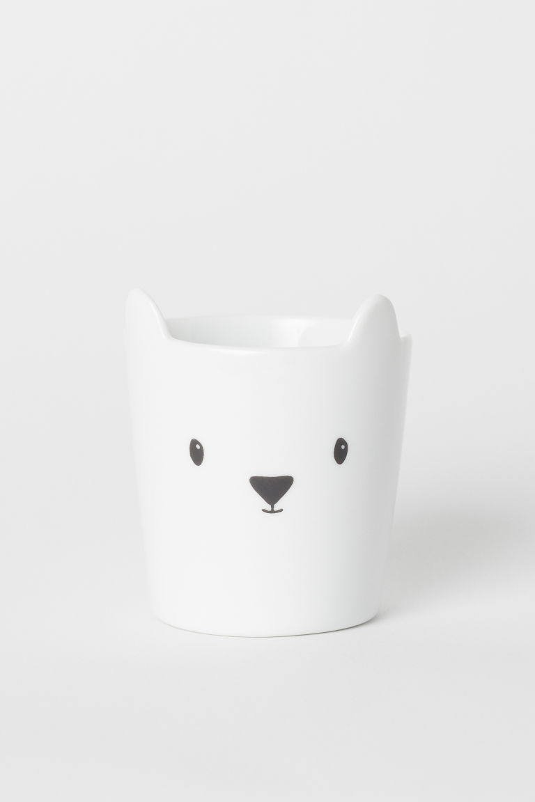 Tazza in porcellana - Bianco/orso - HOME | H&M IT