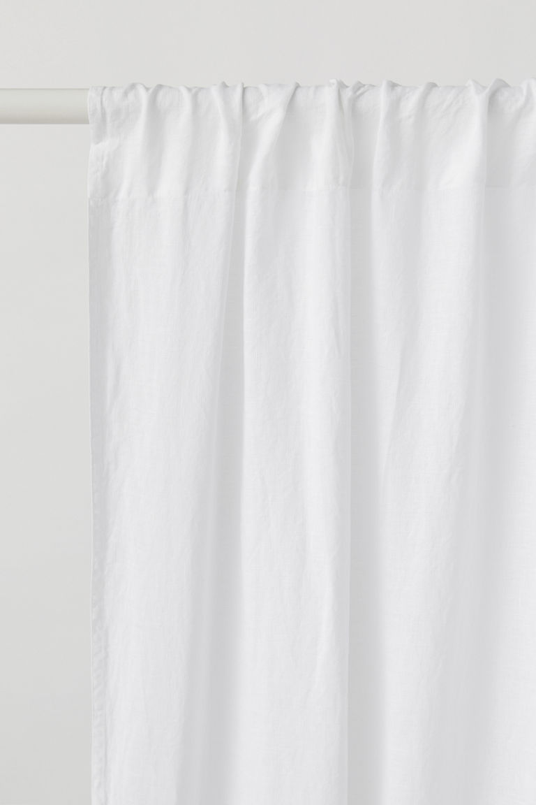 2-pack linen curtain lengths - White - Home All | H&M CN