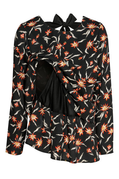 MAMA Nursing blouse - Black/Floral - Ladies | H&M CN