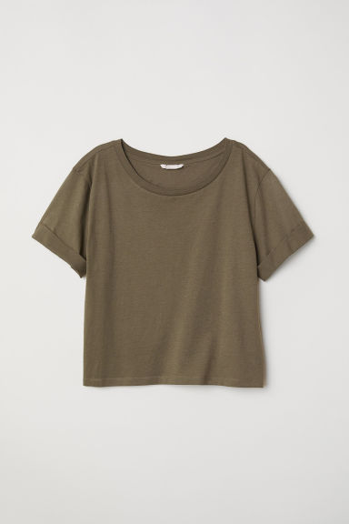 T-shirt ampia - Verde kaki - DONNA | H&M IT