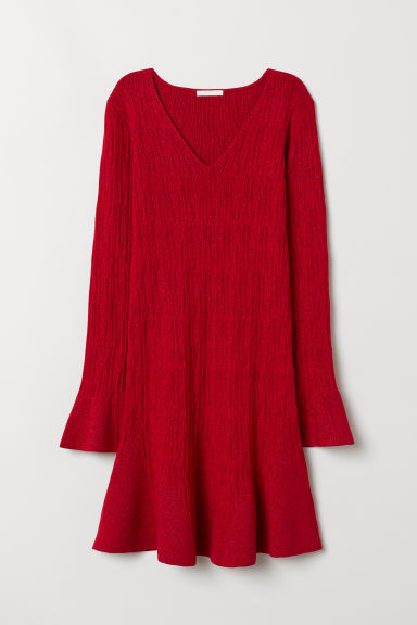 Glittery dress - Red - Ladies | H&M