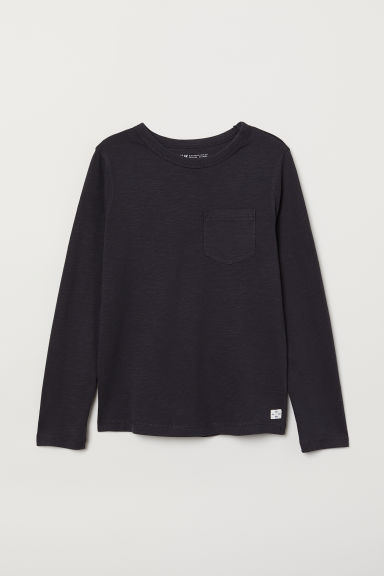 Jersey top - Dark grey - Kids | H&M CN