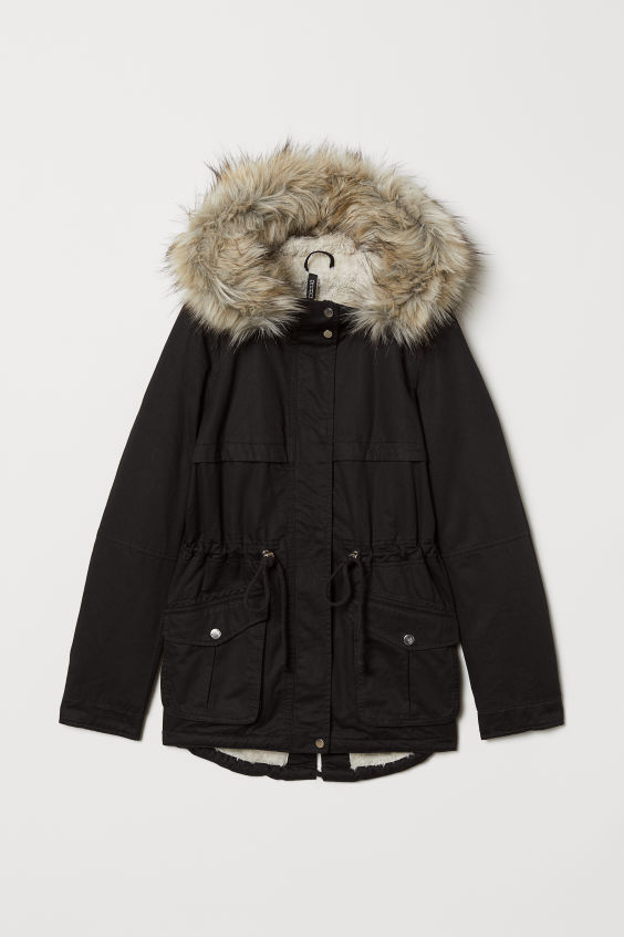 the latest e39db 0b721 Pile-lined Parka