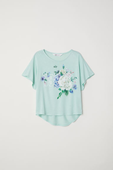 Wide top - Light green/1990 - Kids | H&M CN