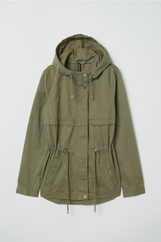 Short Cotton Parka - Khaki green - Ladies  420c10c6526b