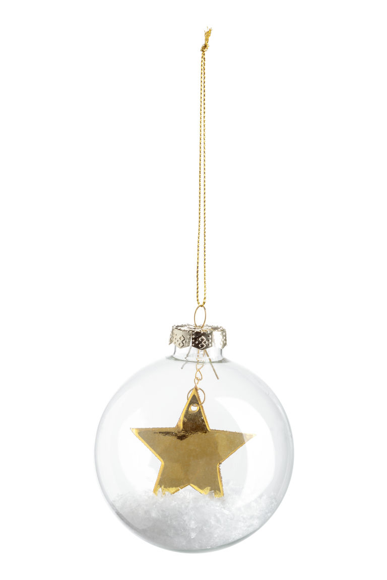 2-pack Christmas tree baubles - Clear glass/Gold-coloured - Home All | H&M CN