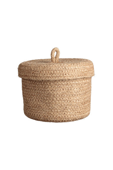 Small braided jute basket - Natural - Home All | H&M IE