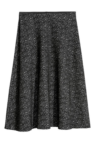 Textured skirt - Black - Ladies | H&M CN