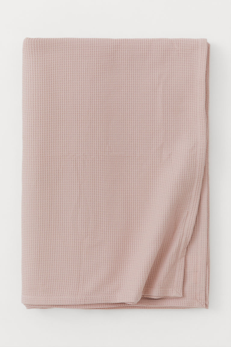 Waffled Bedspread - Dusky pink - Home All | H&M CA