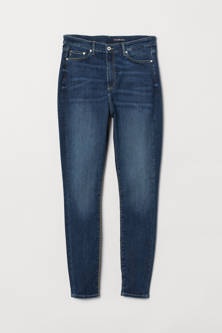 H&M+ Shaping High Jeans - Blu denim scuro/lavato - DONNA | H&M CH
