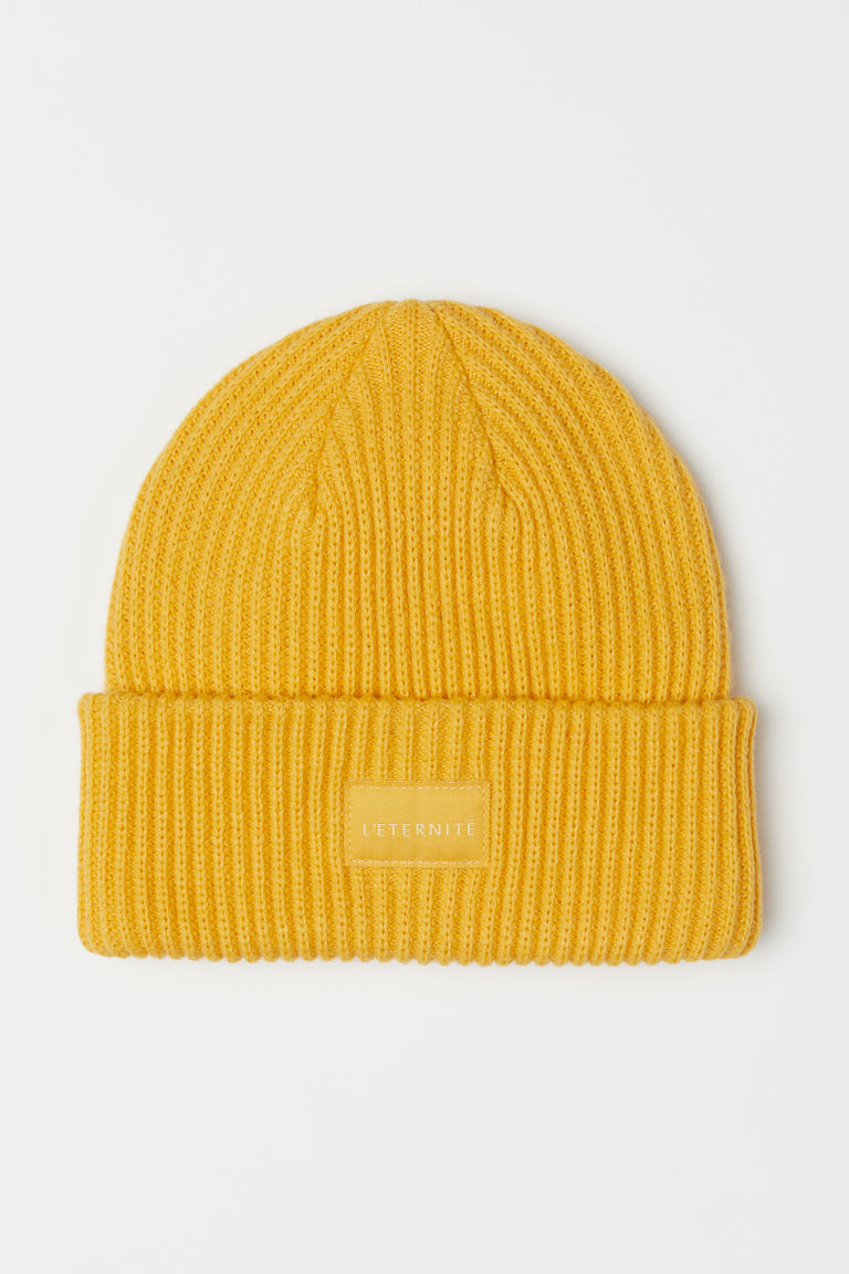 Ribbed hat - Yellow - Ladies | H&M