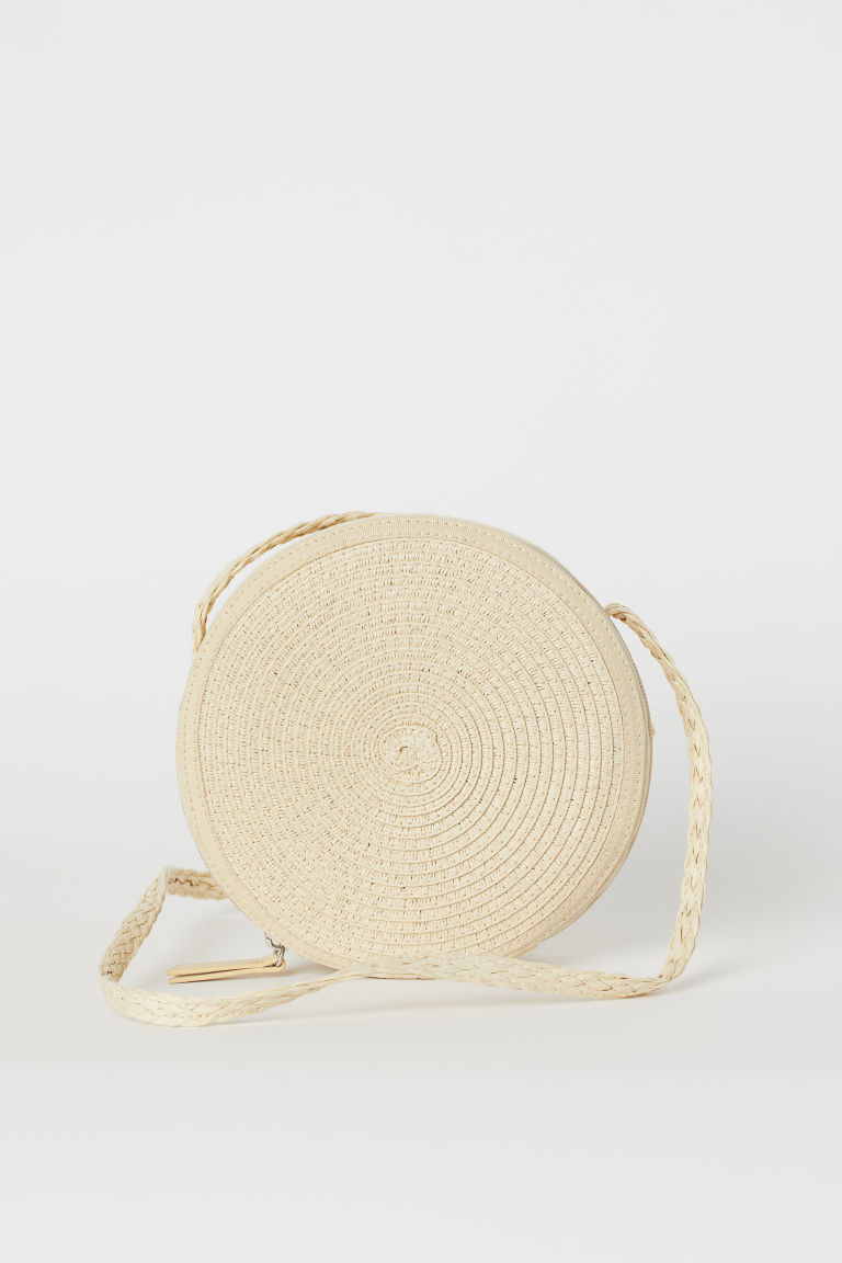 Straw shoulder bag - Beige -  | H&M CN