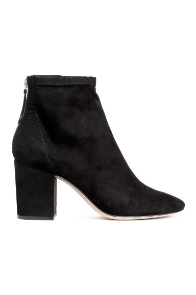 Block-heeled ankle boots - Black -  | H&M