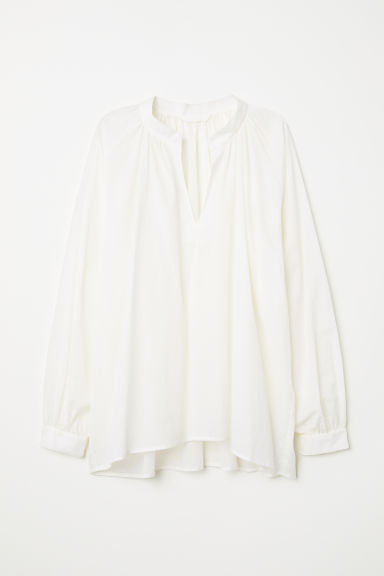Oversized blouse - White - Ladies | H&M