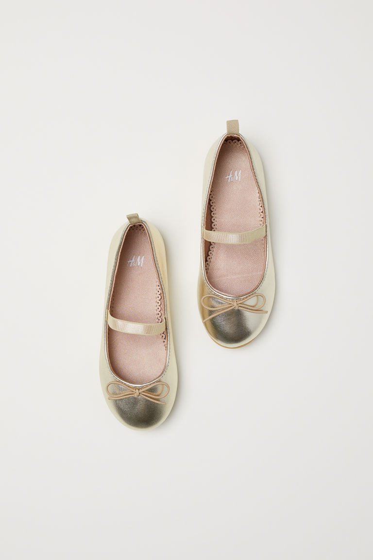 Ballet pumps - Gold-coloured - Kids | H&M CN