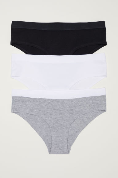 3-pack hipster briefs - Light grey marl - Ladies | H&M