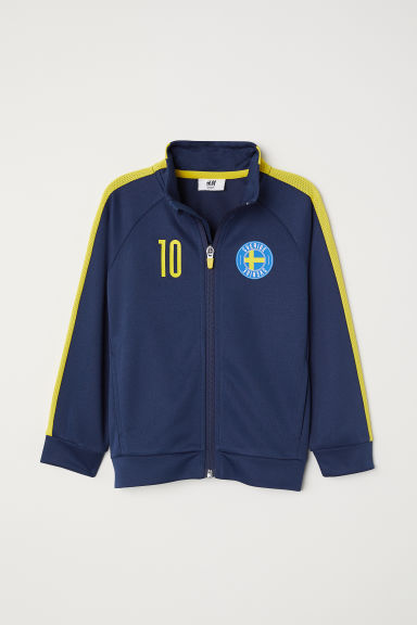 Football jacket - Dark blue/Sverige -  | H&M