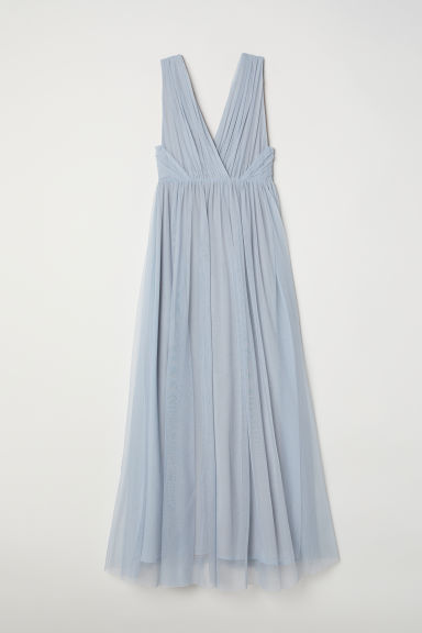 Long mesh dress - Light blue - Ladies | H&M