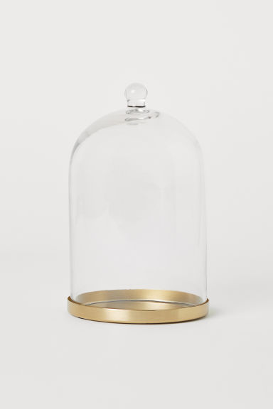 Cloche en verre - Verre transparent/doré - Home All | H&M FR
