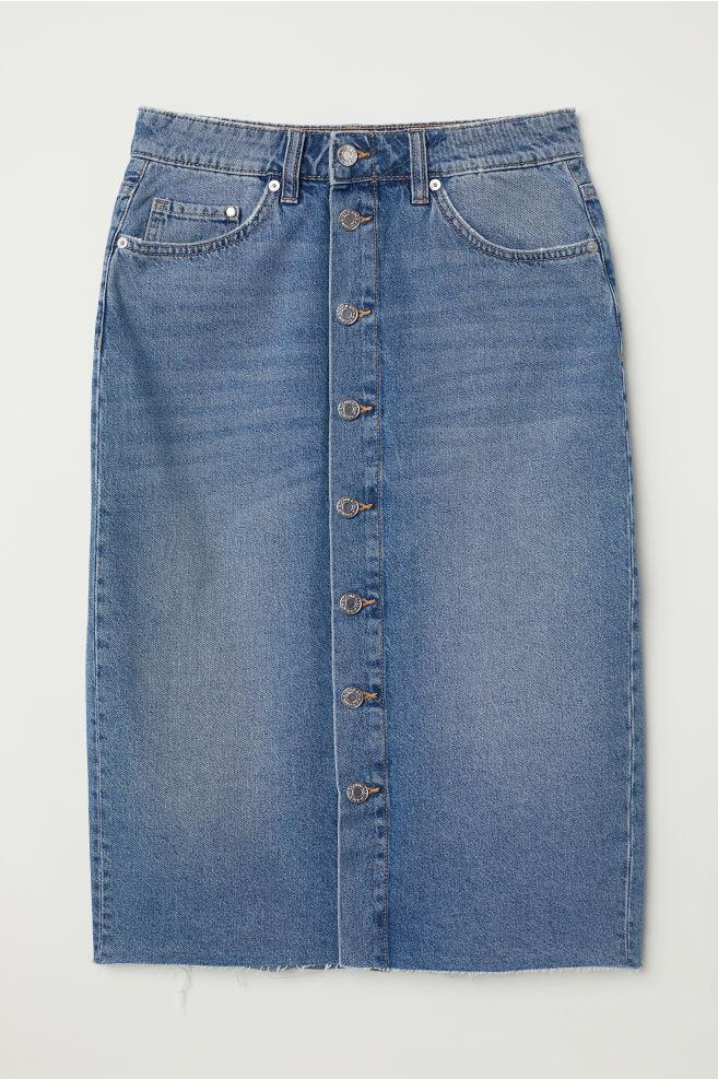 005bc3a2fc4743 Jupe en jean de longueur genou