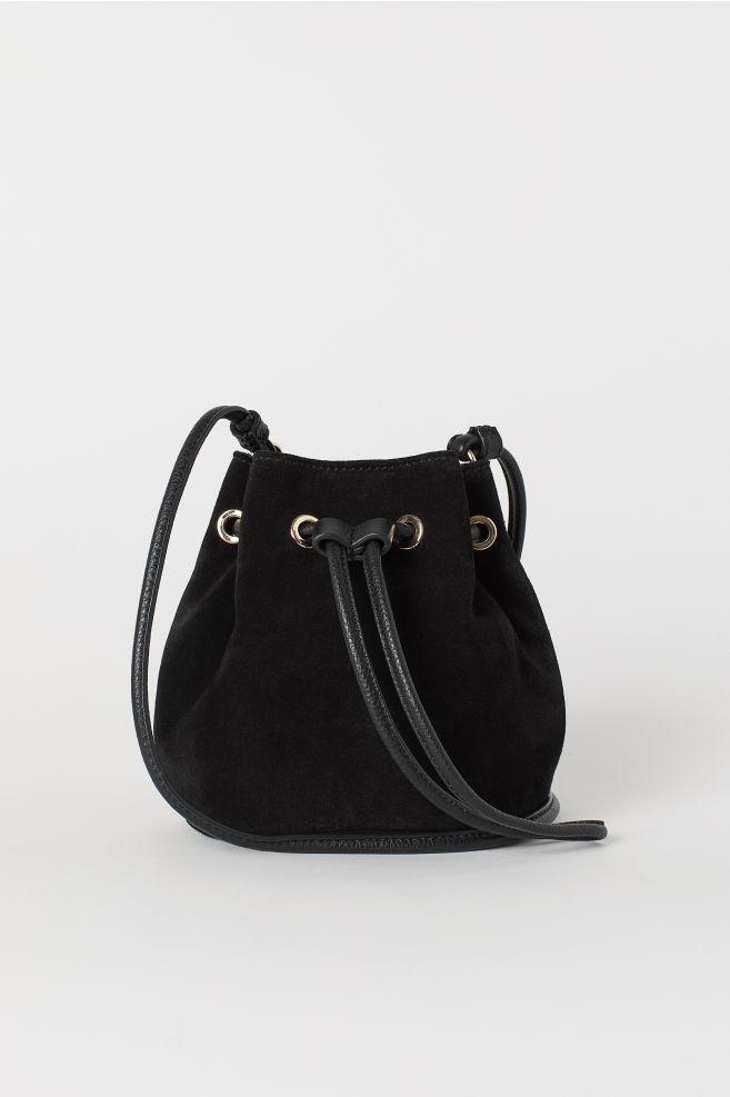 854eca9dae Small Suede Bucket Bag - Black - Ladies