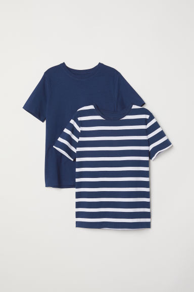 Set van 2 T-shirts - Donkerblauw -  | H&M BE