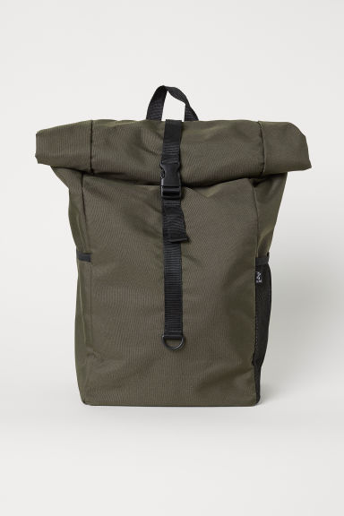 Roll-top opening back pack - Dark green - Men | H&M