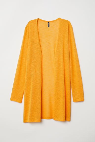 Fine-knit cardigan - Yellow - Ladies | H&M