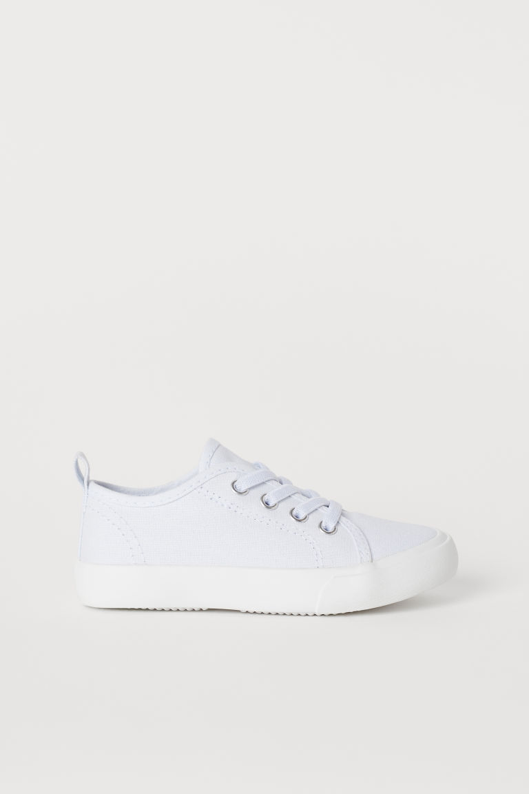 Canvas Sneakers - White - Kids | H&M US