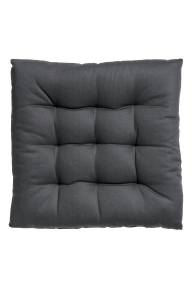 Cotton seat cushion - Anthracite grey -  | H&M CN