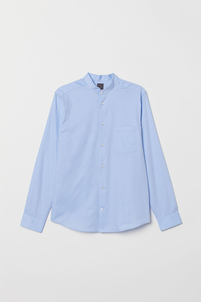 Premium Cotton Shirt - Light blue - Men | H&M CA