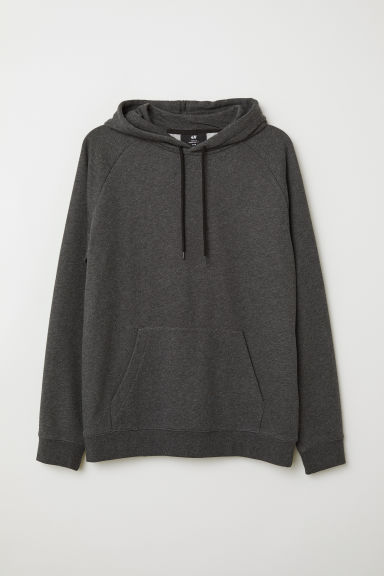 Hooded top with raglan sleeves - Dark grey marl - Men | H&M CN