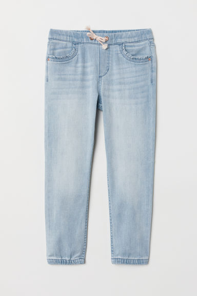 Denim pull-on trousers - Light denim blue - Kids | H&M