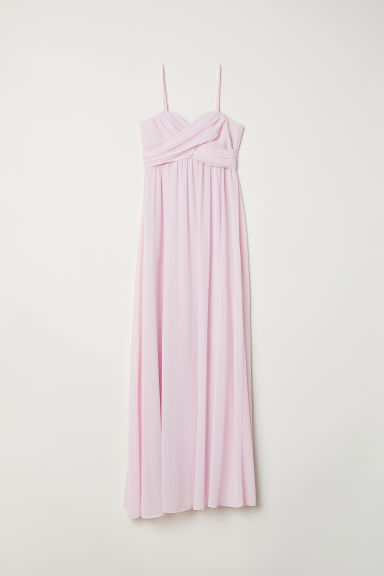 Long Bandeau Dress - Light pink - Ladies | H&M US